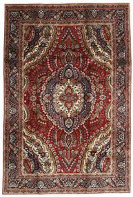 Tabriz Tapete 195X288 Oriental Feito A Mão Vermelho Escuro/Castanho Escuro (Lã, Pérsia/Irão)