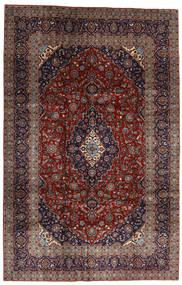 Kashan Tapete 205X313 Oriental Feito A Mão Vermelho Escuro/Preto (Lã, Pérsia/Irão)