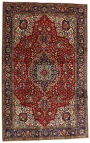 Tabriz Tapete 198X311 Oriental Feito A Mão Vermelho Escuro/Castanho Escuro (Lã, Pérsia/Irão)