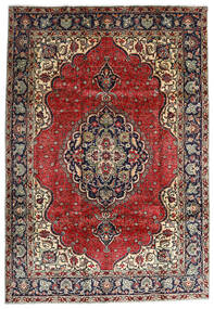 Tabriz Tapete 207X295 Oriental Feito A Mão Vermelho Escuro/Castanho Escuro (Lã, Pérsia/Irão)
