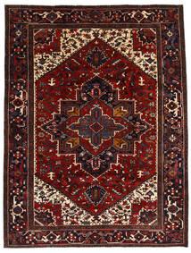Heriz Tapete 212X278 Oriental Feito A Mão Vermelho Escuro/Castanho Escuro (Lã, Pérsia/Irão)