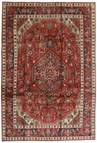 Tabriz Tapete 198X292 Oriental Feito A Mão Castanho Escuro/Vermelho Escuro (Lã, Pérsia/Irão)