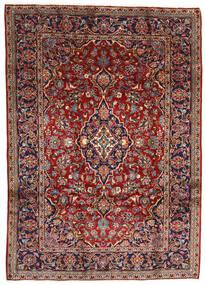 Kashan Tapete 196X275 Oriental Feito A Mão Vermelho Escuro/Castanho Escuro (Lã, Pérsia/Irão)
