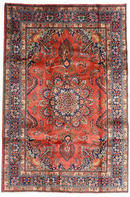 Mashad Tapete 196X290 Oriental Feito A Mão Vermelho Escuro/Porpora Escuro (Lã, Pérsia/Irão)