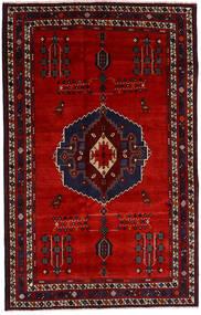 Afshar Tapete 157X248 Oriental Feito A Mão Vermelho Escuro/Castanho Alaranjado (Lã, Pérsia/Irão)