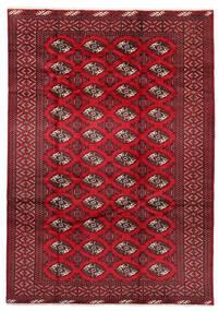Turcomano Tapete 199X282 Oriental Feito A Mão Vermelho Escuro/Vermelho (Lã, Pérsia/Irão)
