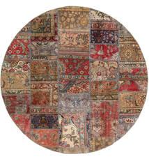 Patchwork - Persien/Iran Tapete Ø 200 Moderno Feito A Mão Redondo Vermelho Escuro/Castanho Claro (Lã, Pérsia/Irão)