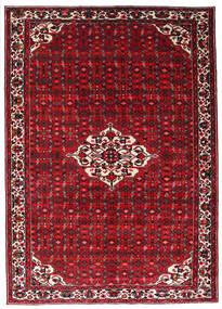 Hosseinabad Tapete 215X301 Oriental Feito A Mão Vermelho Escuro/Vermelho (Lã, Pérsia/Irão)