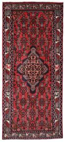 Hamadã Tapete 82X186 Oriental Feito A Mão Tapete Passadeira Preto/Vermelho Escuro (Lã, Pérsia/Irão)