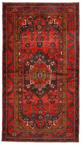 Hamadã Tapete 140X254 Oriental Feito A Mão Vermelho Escuro/Castanho Escuro/Castanho Alaranjado (Lã, Pérsia/Irão)