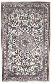 Nain Tapete 151X255 Oriental Feito A Mão Cinza Escuro/Bege (Lã, Pérsia/Irão)
