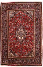 Kashan Tapete 198X302 Oriental Feito A Mão Vermelho Escuro (Lã, Pérsia/Irão)