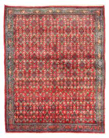 Hamadã Tapete 143X182 Oriental Feito A Mão Vermelho Escuro/Vermelho (Lã, Pérsia/Irão)