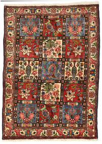 Bakhtiari Collectible Tapete 114X158 Oriental Feito A Mão Preto/Verde Escuro (Lã, Pérsia/Irão)