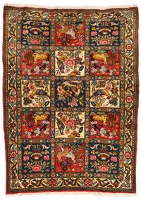 Bakhtiari Collectible Tapete 107X145 Oriental Feito A Mão Preto/Vermelho (Lã, Pérsia/Irão)
