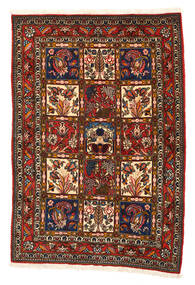 Bakhtiari Collectible Tapete 108X156 Oriental Feito A Mão Preto/Vermelho (Lã, Pérsia/Irão)