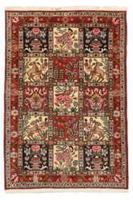 Bakhtiari Collectible Tapete 103X150 Oriental Feito A Mão Castanho Escuro/Castanho Claro (Lã, Pérsia/Irão)