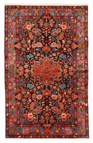 Nahavand Old Tapete 150X240 Oriental Feito A Mão Vermelho Escuro/Preto (Lã, Pérsia/Irão)
