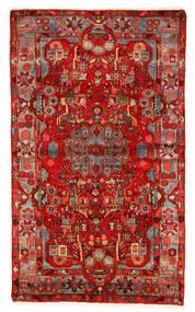 Nahavand Old Tapete 157X260 Oriental Feito A Mão Vermelho Escuro/Castanho Alaranjado (Lã, Pérsia/Irão)