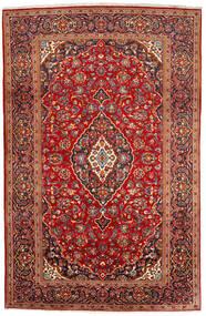 Kashan Tapete 200X309 Oriental Feito A Mão Vermelho Escuro/Castanho Alaranjado (Lã, Pérsia/Irão)