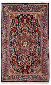 Kerman Tapete 90X149 Oriental Feito A Mão Cinza Escuro/Azul Escuro (Lã, Pérsia/Irão)