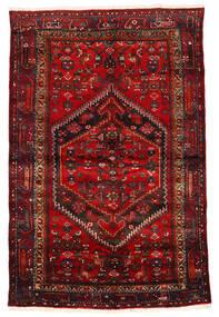Zanjan Tapete 133X203 Oriental Feito A Mão Vermelho Escuro/Castanho Escuro/Castanho Alaranjado (Lã, Pérsia/Irão)