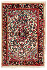Kerman Tapete 97X141 Oriental Feito A Mão Preto/Vermelho Escuro (Lã, Pérsia/Irão)