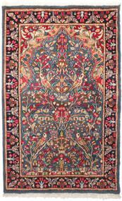 Kerman Tapete 95X155 Oriental Feito A Mão Cinza Escuro/Castanho Alaranjado (Lã, Pérsia/Irão)