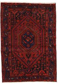 Zanjan Tapete 139X200 Oriental Feito A Mão Vermelho Escuro/Castanho Alaranjado (Lã, Pérsia/Irão)
