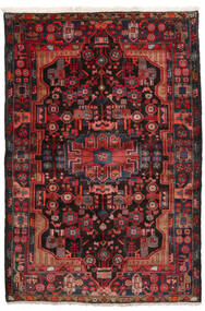 Nahavand Tapete 152X245 Oriental Feito A Mão Vermelho Escuro/Preto (Lã, Pérsia/Irão)