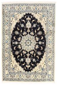 Nain Tapete 170X250 Oriental Feito A Mão Branco/Creme/Preto (Lã, Pérsia/Irão)