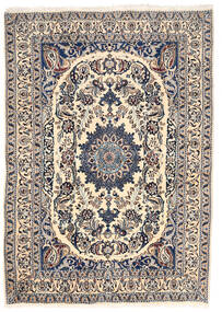 Nain Tapete 162X228 Oriental Feito A Mão Cinzento Claro/Bege (Lã, Pérsia/Irão)