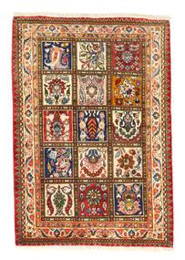 Bakhtiari Collectible Tapete 105X150 Oriental Feito A Mão Vermelho/Cinza Escuro (Lã, Pérsia/Irão)