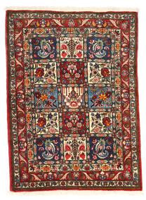 Bakhtiari Collectible Tapete 105X140 Oriental Feito A Mão Castanho Escuro/Bege (Lã, Pérsia/Irão)