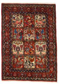 Bakhtiari Collectible Tapete 106X150 Oriental Feito A Mão Castanho Escuro/Vermelho Escuro (Lã, Pérsia/Irão)