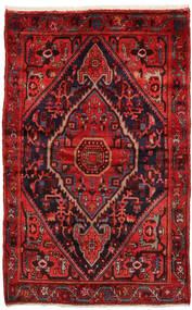 Zanjan Tapete 137X212 Oriental Feito A Mão Vermelho Escuro/Castanho Alaranjado (Lã, Pérsia/Irão)