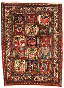 Bakhtiari Collectible Tapete 107X143 Oriental Feito A Mão Castanho Escuro/Vermelho Escuro (Lã, Pérsia/Irão)