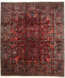 Sarough Tapete 420X485 Oriental Feito A Mão Vermelho Escuro/Castanho Escuro Grande (Lã, Pérsia/Irão)
