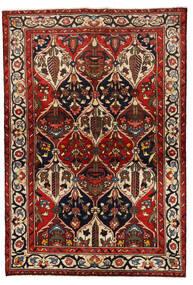 Bakhtiari Tapete 139X205 Oriental Feito A Mão Vermelho Escuro/Preto (Lã, Pérsia/Irão)
