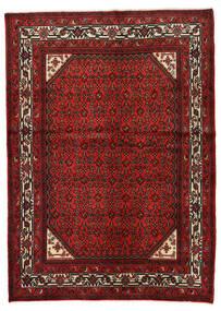 Hosseinabad Tapete 146X205 Oriental Feito A Mão Vermelho Escuro/Castanho Alaranjado (Lã, Pérsia/Irão)