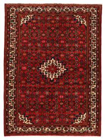 Hosseinabad Tapete 147X200 Oriental Feito A Mão Vermelho Escuro/Castanho Alaranjado (Lã, Pérsia/Irão)
