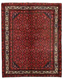 Hosseinabad Tapete 151X190 Oriental Feito A Mão Vermelho Escuro/Castanho Escuro (Lã, Pérsia/Irão)