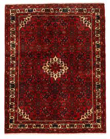 Hosseinabad Tapete 150X193 Oriental Feito A Mão Castanho Escuro/Vermelho Escuro (Lã, Pérsia/Irão)