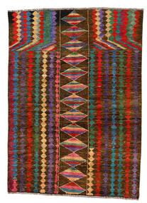 Moroccan Berber - Afghanistan Tapete 146X201 Moderno Feito A Mão Castanho Escuro/Cinza Escuro (Lã, Afeganistão)