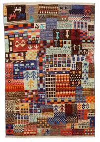 Moroccan Berber - Afghanistan Tapete 115X171 Moderno Feito A Mão Vermelho Escuro/Cinzento Claro (Lã, Afeganistão)