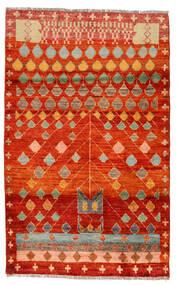 Moroccan Berber - Afghanistan Tapete 115X186 Moderno Feito A Mão Castanho Alaranjado/Castanho (Lã, Afeganistão)