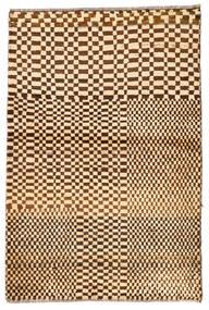Moroccan Berber - Afghanistan Tapete 92X140 Moderno Feito A Mão Bege Escuro/Bege (Lã, Afeganistão)