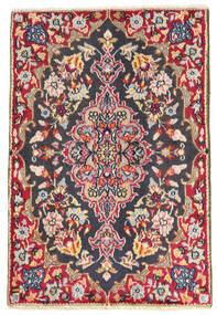 Kerman Tapete 57X84 Oriental Feito A Mão Preto (Lã, Pérsia/Irão)