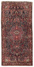 Bijar Tapete 151X302 Oriental Feito A Mão Tapete Passadeira Vermelho Escuro/Preto (Lã, Pérsia/Irão)