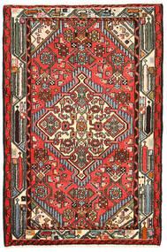 Hamadã Tapete 82X125 Oriental Feito A Mão Preto/Castanho Escuro (Lã, Pérsia/Irão)